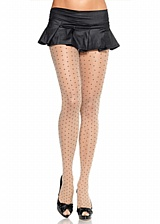 Collants voile Woven Dots